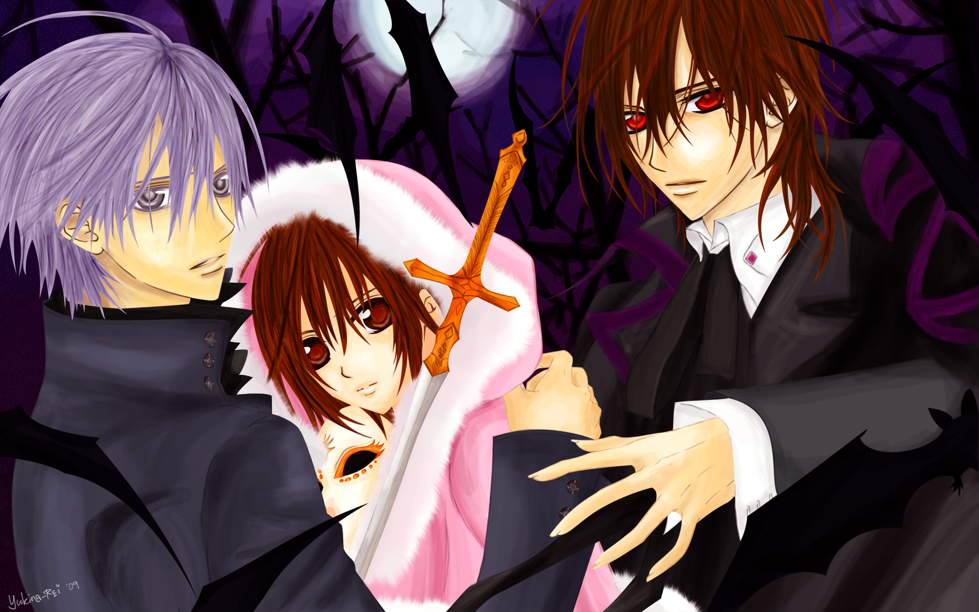 Vampire knight wallpaper 35816448 fanpop