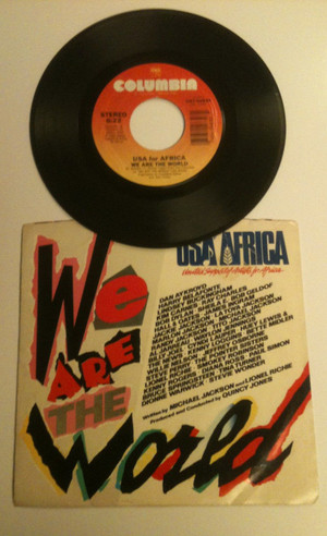 """""""We Are The World"""" On 45 RPM"""