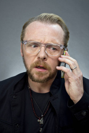 2013 08 28 - London - Simon Pegg for ' The Times ' door David Bebber