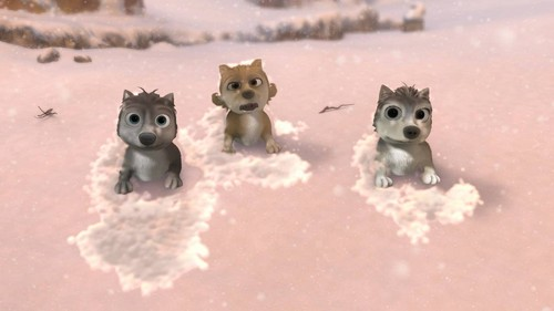 Alpha and Omega 2: a howl-iday adventure দেওয়ালপত্র entitled 3 pups in the snow