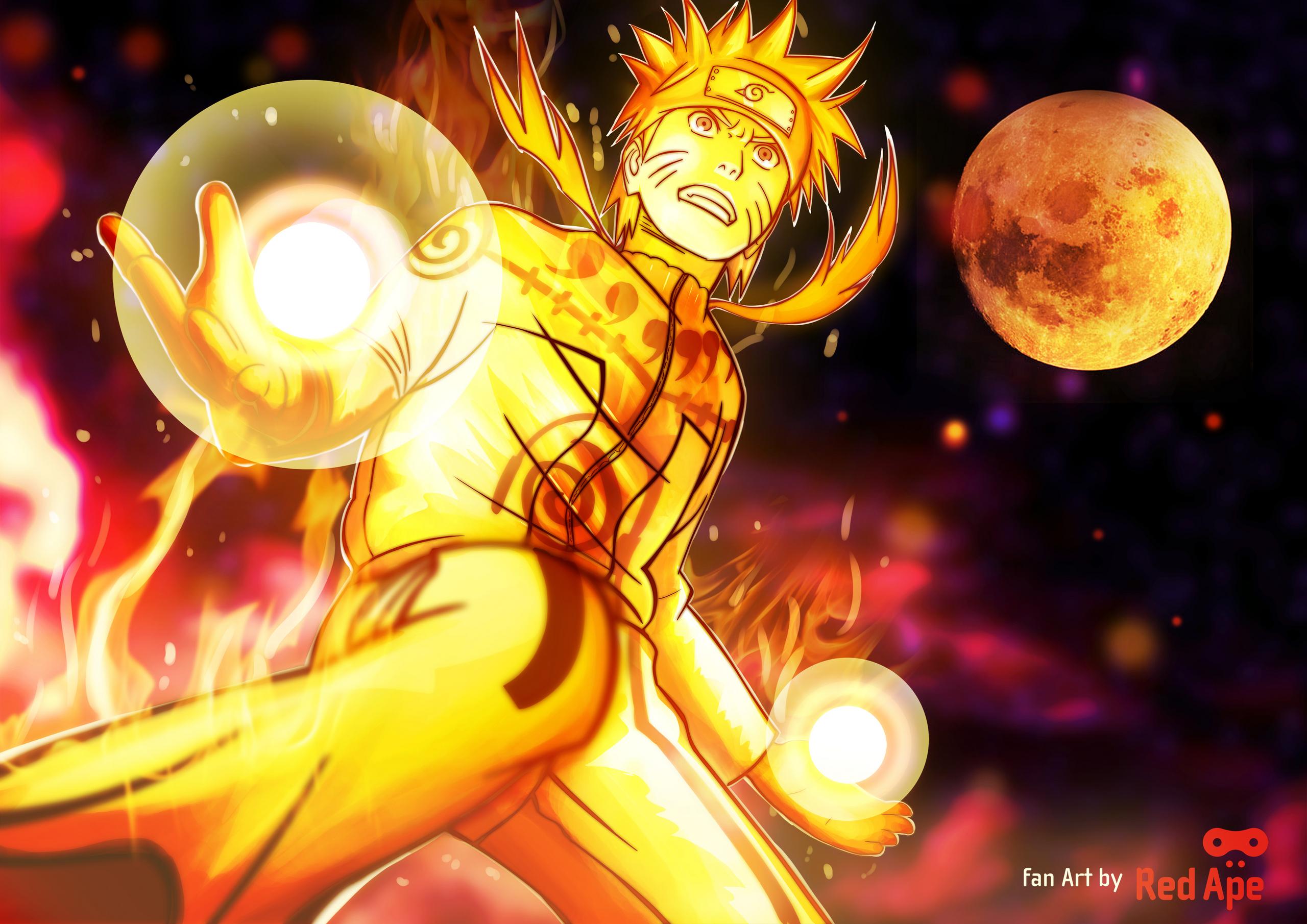 Naruto Shippuuden Hintergrund called 9 tales Kyuubi Mode