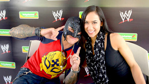 AJ Lee and Rey Mysterio meet WWE Fans In Mexico City