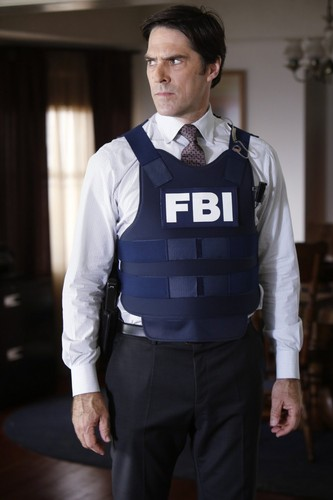 SSA Aaron Hotchner achtergrond containing a bulletproof vest called Aaron Hotchner