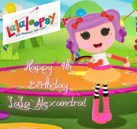 Lalaloopsy Hintergrund titled Alexandra's 4th Birthday!