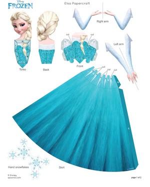 Elsa Papercraft