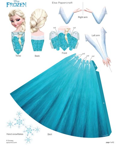 Frozen wallpaper possibly containing a parasol entitled Elsa Papercraft
