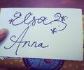 Anna and Elsa's Signatures