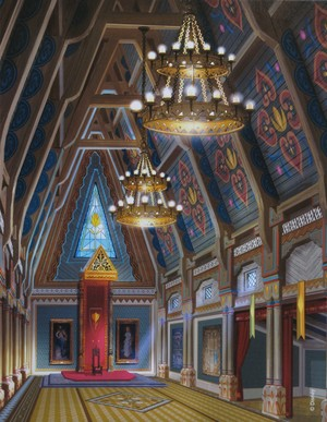 Arendelle kastil, castle - Main Hall