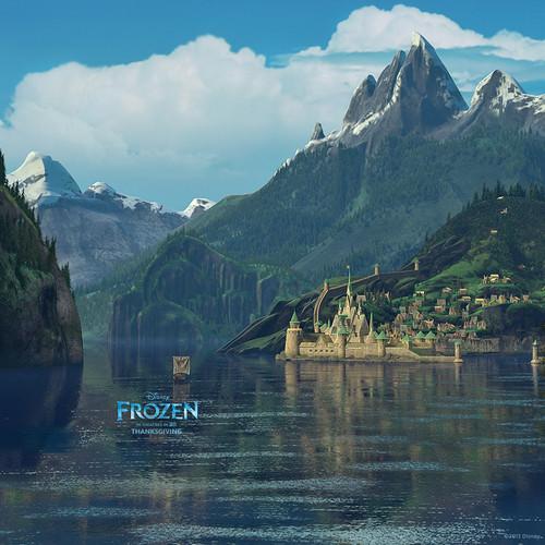 Frozen kertas dinding titled Arendelle