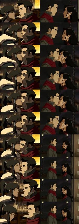 Asami & Korra's kiss Mako