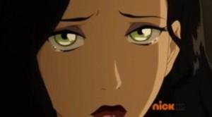 Asami crying