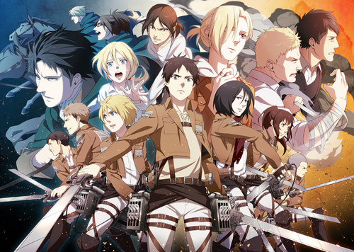 anime karatasi la kupamba ukuta called Attack on Titan