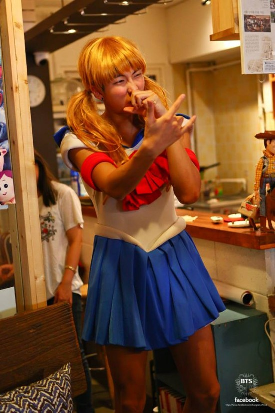BTS as Sailor Moon, a ladybug, a maid, and more