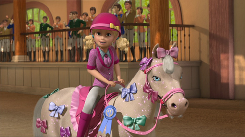 películas de barbie fondo de pantalla probably with a horse trail, a horse wrangler, and a lippizan entitled barbie & Her Sisters in A poni, pony Tale