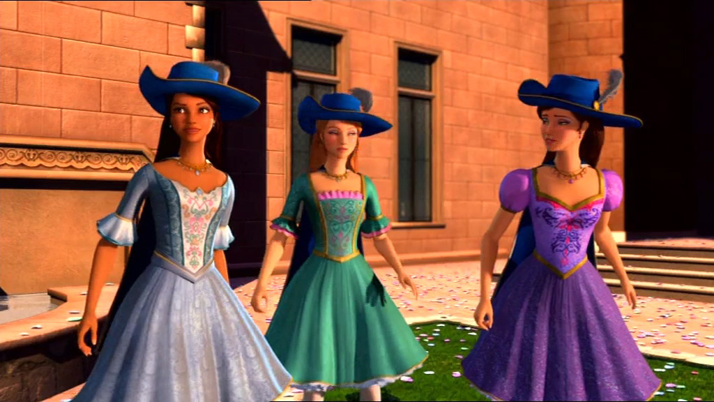 download all for one barbie and the three musketeers