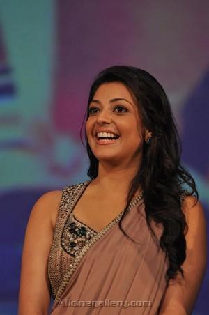 Beautiful smile of Kajal
