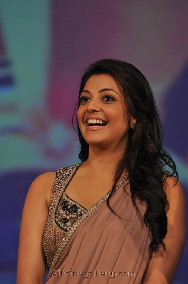 Beautiful smile of Kajal