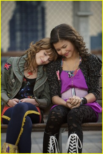 Shake It Up wallpaper possibly with a street, a hip boot, and a carriageway titled Bella & Zendaya / Rocky & CeCe   {B.F.F's}