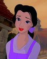 Belle with a different hair/eyes/lips/clothing colores