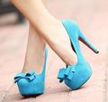 Blue High Heels