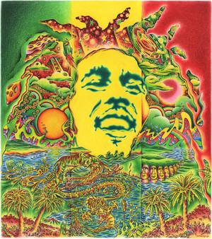 Bob Marley por Jeff Hopp