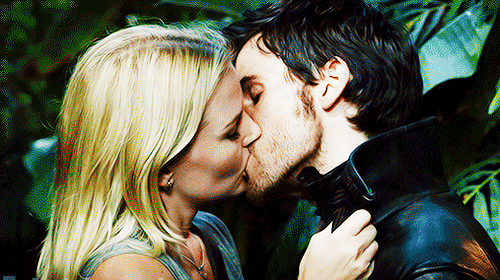 Once Upon A Time wallpaper probably with a hip boot titled Captain Swan kiss@