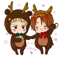Christmas with Germany and Italy! - hetalia-north-italy photo