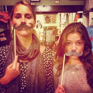 Claire Holt and Danielle Campbell… #BoysNight
