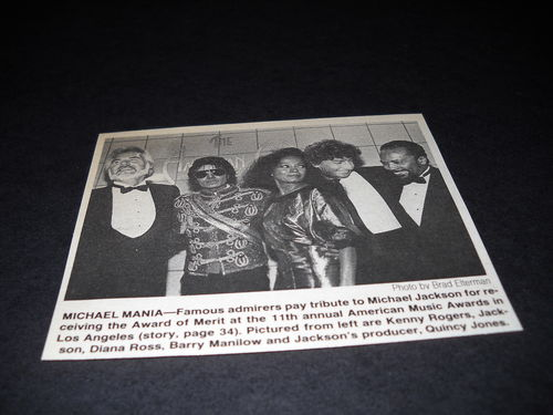 Clipping From The 1984 American Musica Awards
