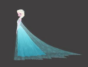 Concept art of Elsa