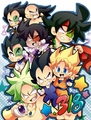 Cute Pureblood Saiyan Team - dragon-ball-z fan art