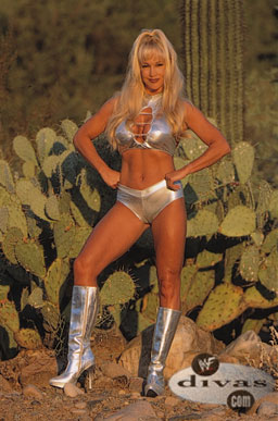 Frühere WWE-Diva… Debra Hintergrund probably with a badeanzug and a hip boot titled Debra - Raw Magazine December 2000