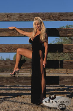 Former WWE Diva... Debra karatasi la kupamba ukuta containing a park bench titled Debra - Raw Magazine December 2000