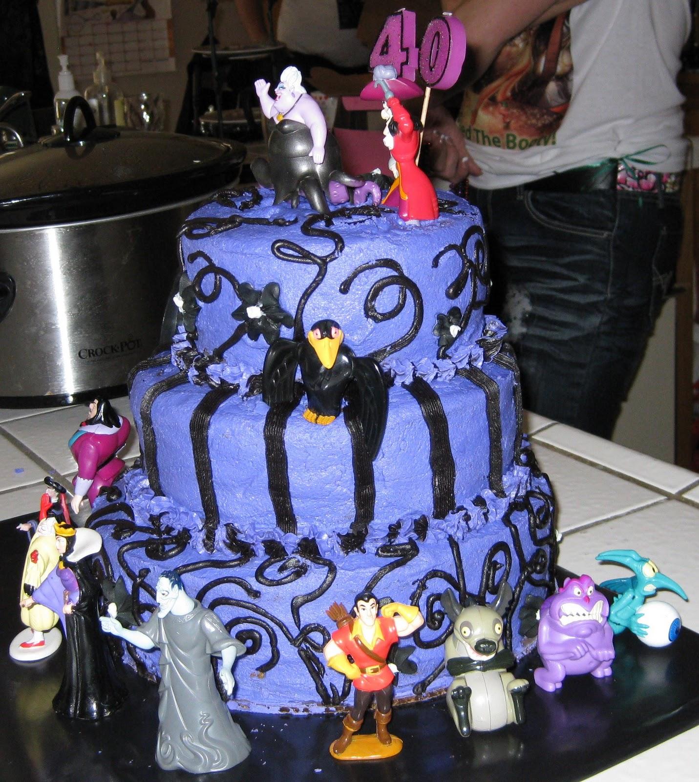 Disney Villains Cake