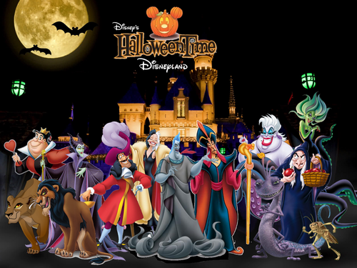 Penjahat Disney kertas dinding entitled Disneyland In Halloween Time