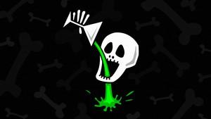 Drunken Skull wolpeyper