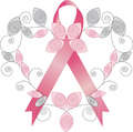 ELEGANT PINK RIBBON - breast-cancer-awareness photo
