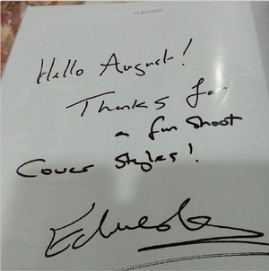 Ed Westwick Autograph for August Man