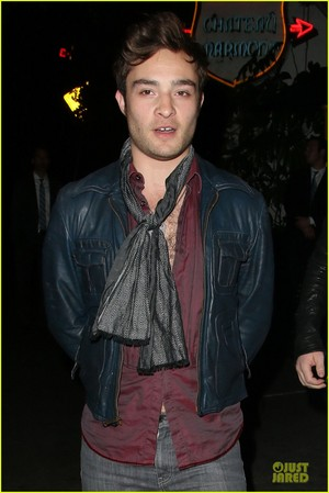 Ed Westwick is suave while exiting chateau Marmont Thursday (October 17) in West Hollywood, Calif.