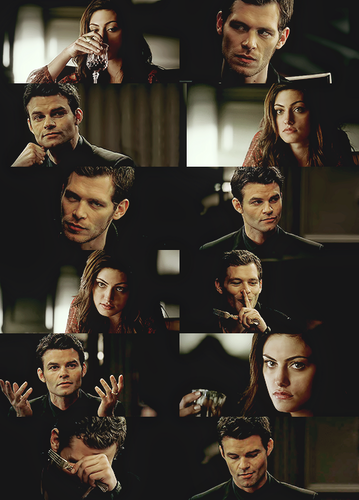 Elijah & Hayley wallpaper possibly with a portrait called Elijah Hayley Klaus having jantar together AU