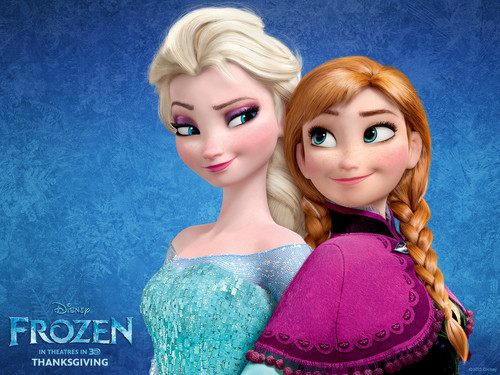 Frozen - Uma Aventura Congelante - Uma Aventura Congelante wallpaper possibly containing a pullover and a portrait called Elsa and Anna wallpapers