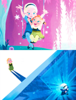 Frozen kertas dinding titled Elsa and Anna