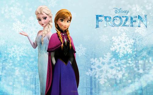 Elsa und Anna Hintergrund titled Elsa and Anna