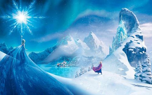 elsa e ana wallpaper possibly with a ski resort called Elsa and Anna