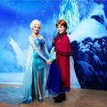 Elsa and Anna face characters