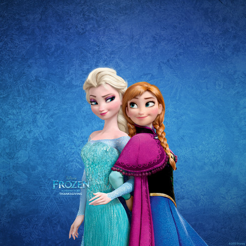 アナと雪の女王 壁紙 possibly containing a ディナー dress, a gown, and a ポロネーズ titled Elsa and Anna