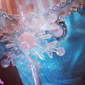 Elsa costume and light up wand at Disneyland