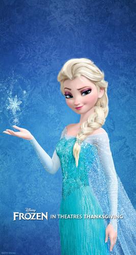 Elsa the Snow क्वीन वॉलपेपर probably containing a रात का खाना dress titled Elsa