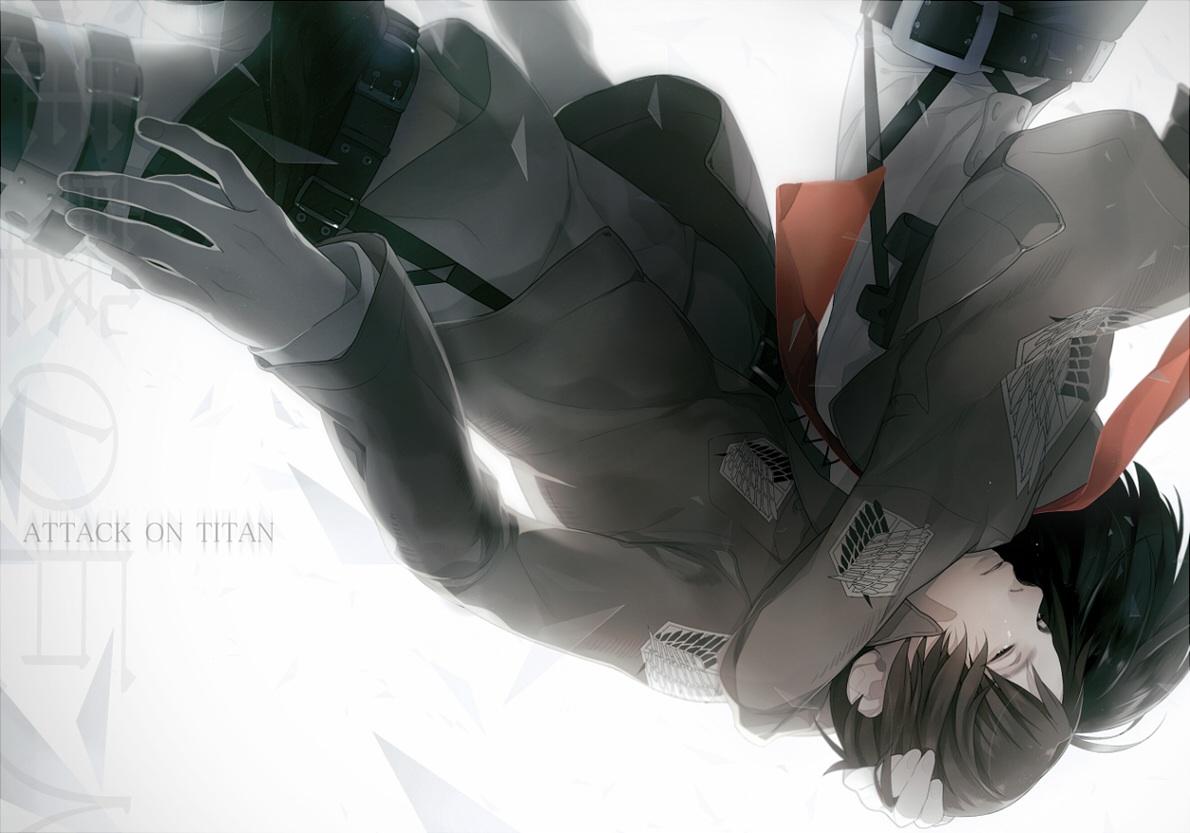 attack on titan eren and mikasa