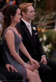 Esme and Carlisle,mother and father of the groom